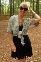 lucca dress - vintage shirt - Dolce Vita shoes