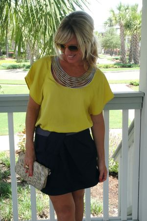 31 phillip lim blouse - Lush skirt - HOBO purse - Ray Ban sunglasses