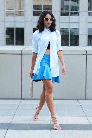 Mango shirt - robert rodriguez skirt - Nasty Gal heels