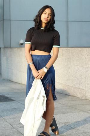 Zara t-shirt - Nordstrom vest - Birkenstock sandals