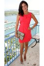 Red-bcbg-dress-vintage-gucci-bag-nude-patent-miu-miu-heels