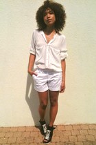 Zara shirt - united colors of benetton shorts - ASH wedges