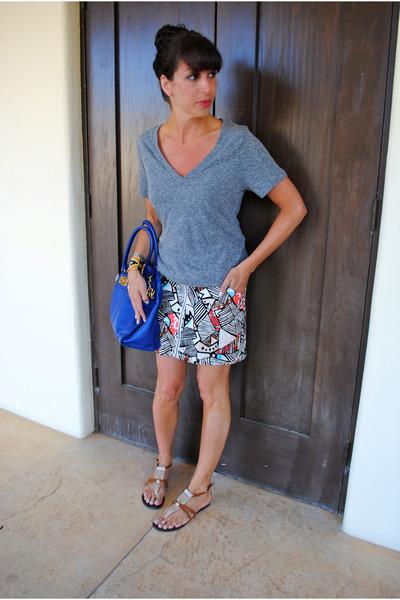 Michael Kors bag - H&M skirt - Steve Madden sandals