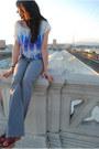 BDG jeans - Silence & Noise blouse - Nordstrom Rack wedges