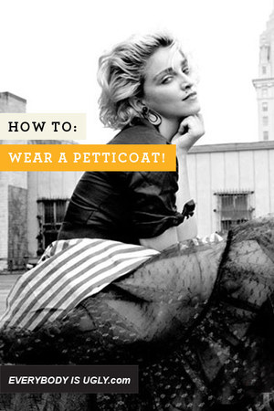 how to wear one PETTICOAT skirt