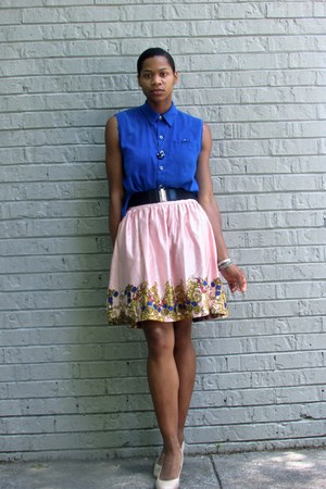 light pink Joe Fresh skirt - blue Chico shirt