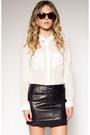Skirt-leather-skirt