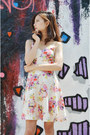 Floral-dress-sheinside-dress-chunky-heels-shoplately-wedges
