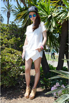 white skort sammydress shorts - white top sammydress top