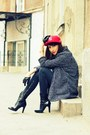 Red-cap-new-era-hat-charcoal-gray-boyfirend-mango-coat