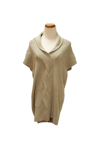 heather gray Qi cashmere sweater