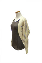 beige shrug QiCashmere cardigan