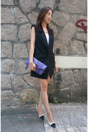 black vest bought in Korea blazer - purple ps1 clutch PROENZA SCHOULER purse