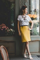 yellow Pennyblack skirt - red shourouk necklace