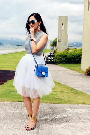 silver tulle tulle snidel skirt - blue rebel Jimmy Choo bag
