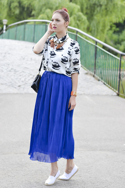 Zara skirt - meli melo bracelet - romwe necklace