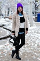 Zara coat - coco-fashion bag - AX Paris pants - AX Paris jumper