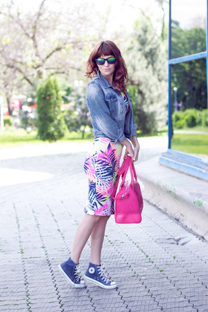 Fashion Union dress - Bershka bag - Converse sneakers
