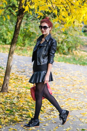Fiigirl jacket - aupie sunglasses - AHAISHOPPING skirt - romwe sneakers