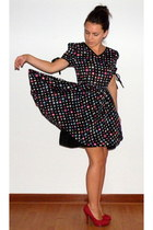 black polka dots My Own dress