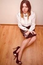 off white sh  DIY shirt - black Secondhand skirt