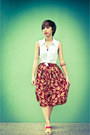 Brick-red-vintage-skirt-mustard-mendrez-wedges-ruby-red-mendrez-wedges