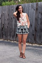 Forever 21 shorts - Forever 21 top - Target sandals
