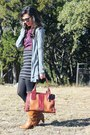 Bronze-dsw-boots-brown-fossil-bag-black-stripes-target-skirt
