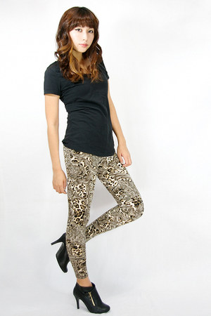 leopard queen wwwgopinkponycom leggings