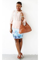 asos top - Cole Haan bag - H&M skirt - Chic couture online necklace