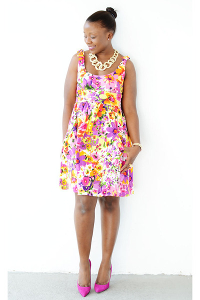 Boutique 9 shoes - Macys dress - Chic couture online necklace