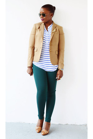 Forever 21 top - Cole Haan shoes - JCrew blazer - Loft pants