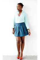 Dilliards shoes - Express shirt - Forever 21 skirt