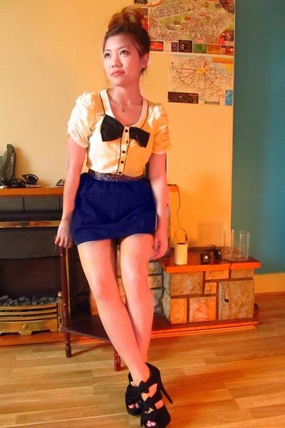 penguin shirt shirt - color block skirt