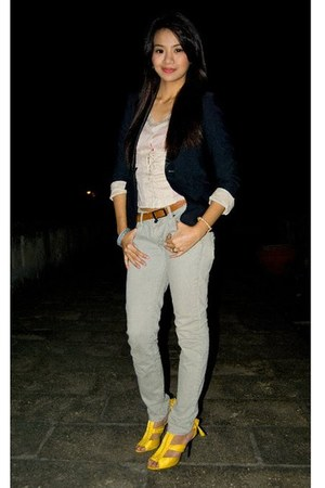 Esprit top - Zara jeans - Nine West shoes