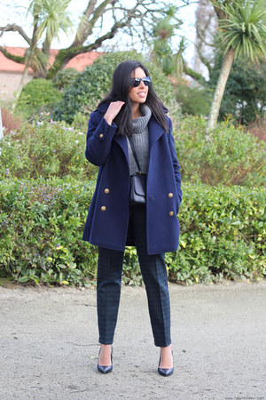 Yeënko coat - Zara sweater - Zara bag - Yeënko pants - Zara heels