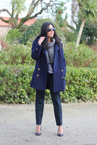 Yeënko coat - Zara sweater - Zara bag - Yeënko pants - Zara heels