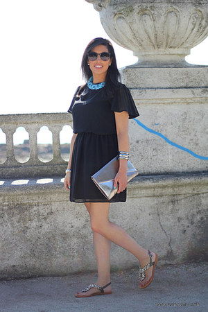 Naugthy Monkey sandals - Primark dress - Stradivarius bag