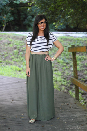 own design skirt - Zara belt - H&amp;M t-shirt - firmoo glasses - Zara sandals