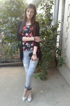 silver Vero Moda leggings - black no name bag - Bershka bracelet