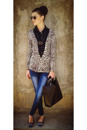 black Vero Moda shirt - blue Vero Moda jeans - white Vero Moda blazer