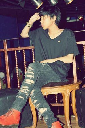 black Zara t-shirt - black Levis jeans - red Dr Martens boots