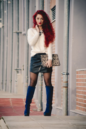 pull&bear skirt - Topshop sweater - Zara bag