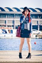 Mango bag - Topshop boots - Zara hat