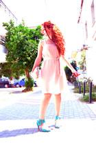 Zara dress - asos bag - asos sunglasses - Kotris heels