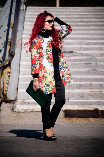 OASAP coat - Miss Sixty pants - asos earrings - Zara pumps