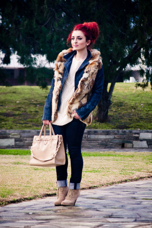 Topshop jacket - Zara boots - OASAP bag - vintage earrings
