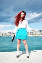 Zara skirt - Zara blouse - Steve Madden pumps