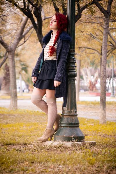 Zara boots - OASAP bag - Calzedonia socks