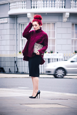Choies sweater - Zara bag - Christian Louboutin pumps